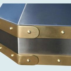 Antique Kitchen Sinks Booths For Sale Hand Made Stainless Range Hood Brass Straps & Rivets By ...