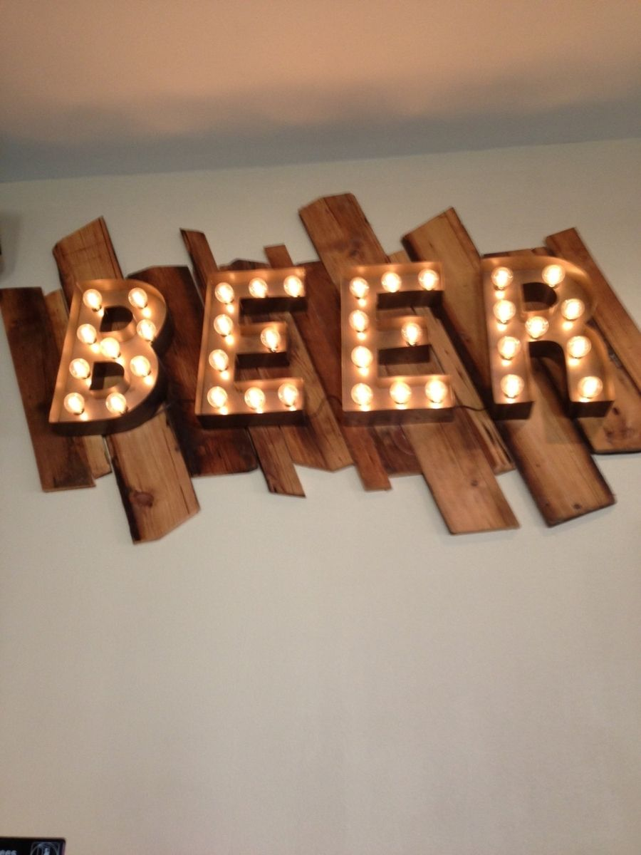 Vintage Letters Wall
