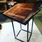 Handmade Black Walnut Live Edge End Table Night Stand By