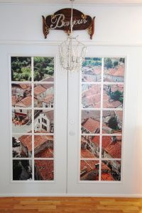 Hand Made Tuscan Windowscape French Door Wall Decals by