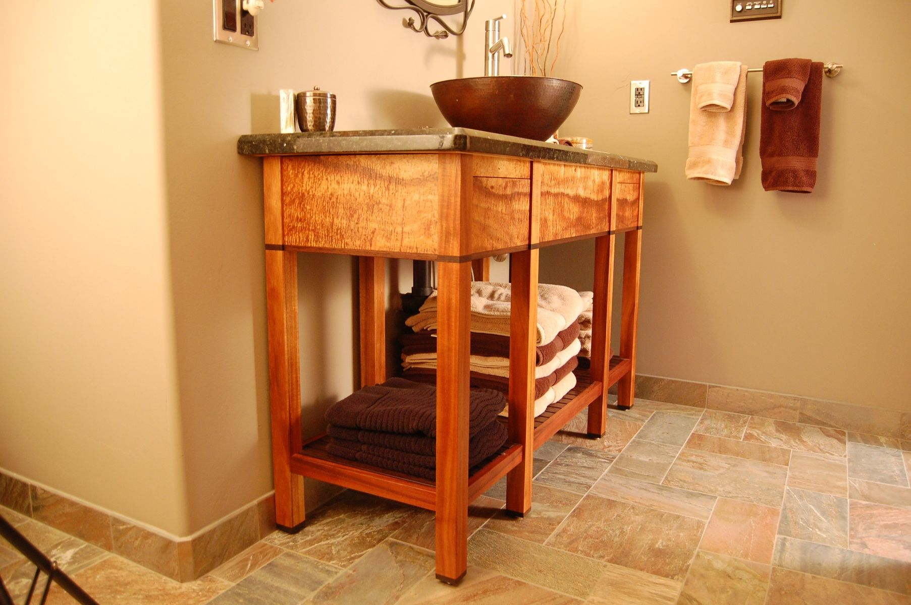 Hand Made Bathroom Vanity by Mcfinn Designs  CustomMadecom