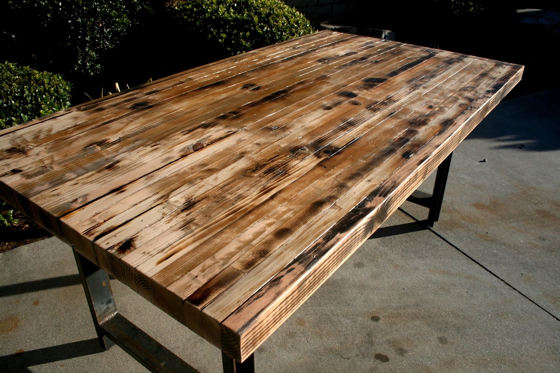 Hand Made Rustic Recycled Butcher Block Dinning Table By The Timber Library