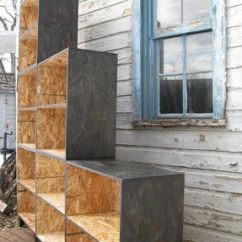 Living Room Storage Units Black How To Choose An Area Rug For Hand Crafted Tansu Style Step Modular Osb Bookcase ...