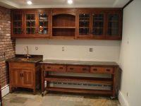 Hand Made Arts And Crafts Quartersawn Oak Bar, Sink