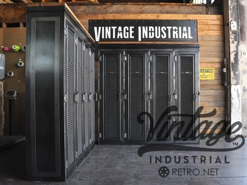 Hand Crafted Vintage Industrial LockerBookcaseMudroom