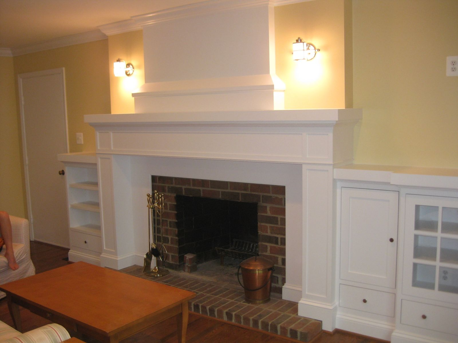 Custom Made Mantle With Media Storage by Base Home Services  CustomMadecom