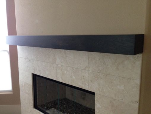 Handmade Cherry Modern Beam Fireplace Mantel by Custom Corners Llc  CustomMadecom