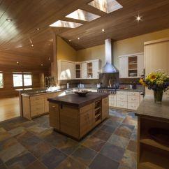 Butcher Block Kitchen Islands White Wood Cabinets Hand Made Walnut End Grain Top & Live Edge ...
