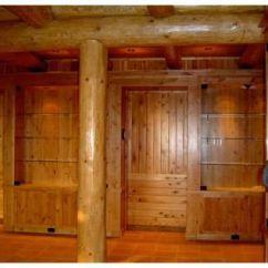 Kitchen Cabinets Knotty Alder Salamander Equipment Custom Made Trophy Room - Solid Wood ...