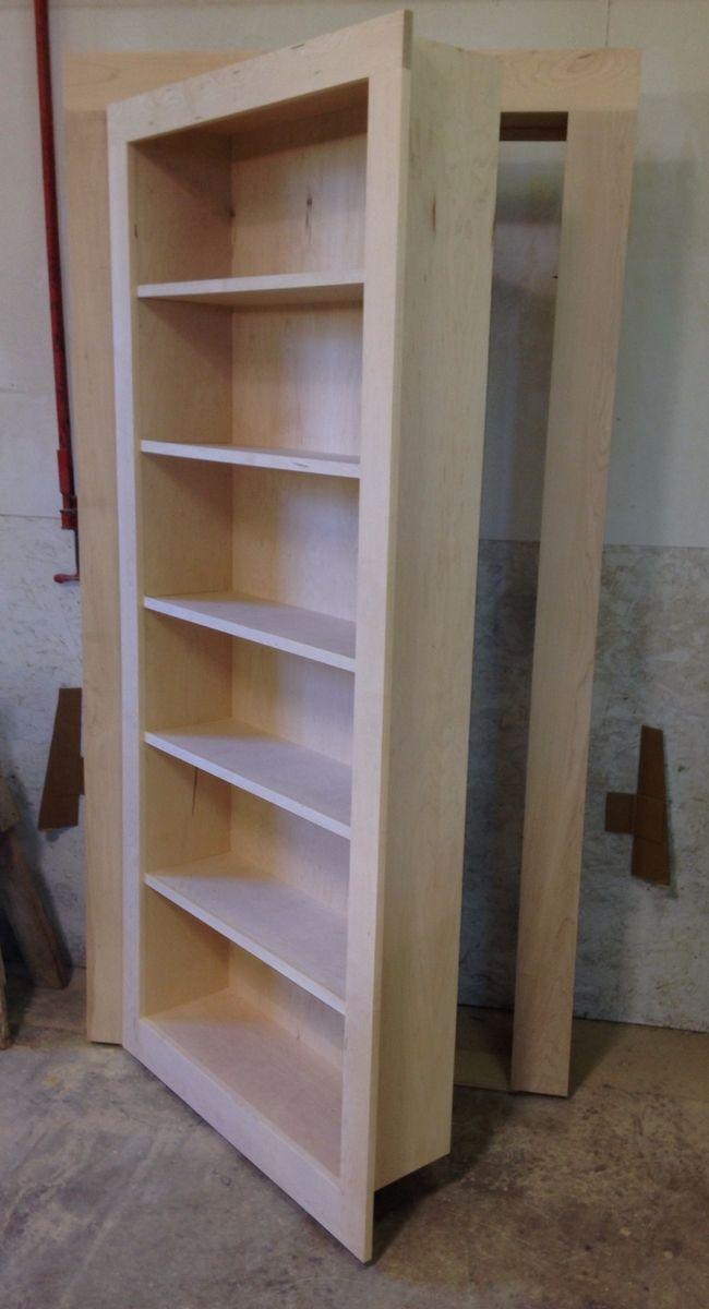 Handmade Secret Bookcase Door by Customcraft Homes