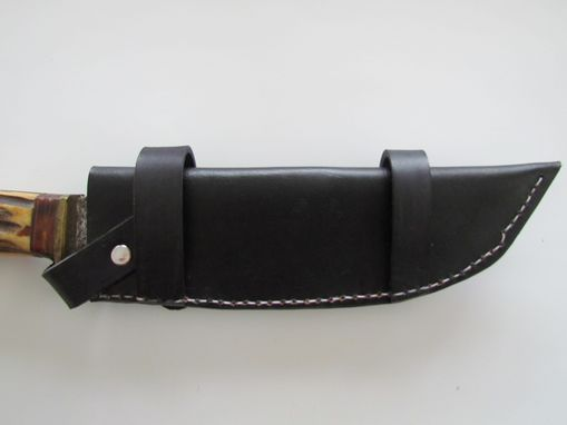 Hand Crafted Custom Leather Knife Sheath To Be Worn