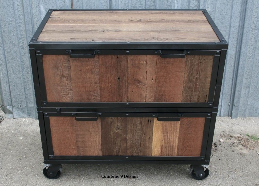 Buy a Hand Crafted Vintage Industrial File Cabinet