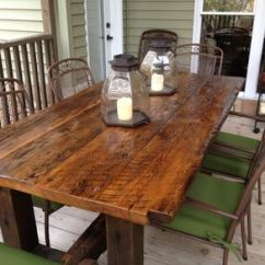 Wooden Kitchen Tables Cabinet Doors For Sale Dining And Farmhouse Industrial Modern Reclaimed Trestle Table