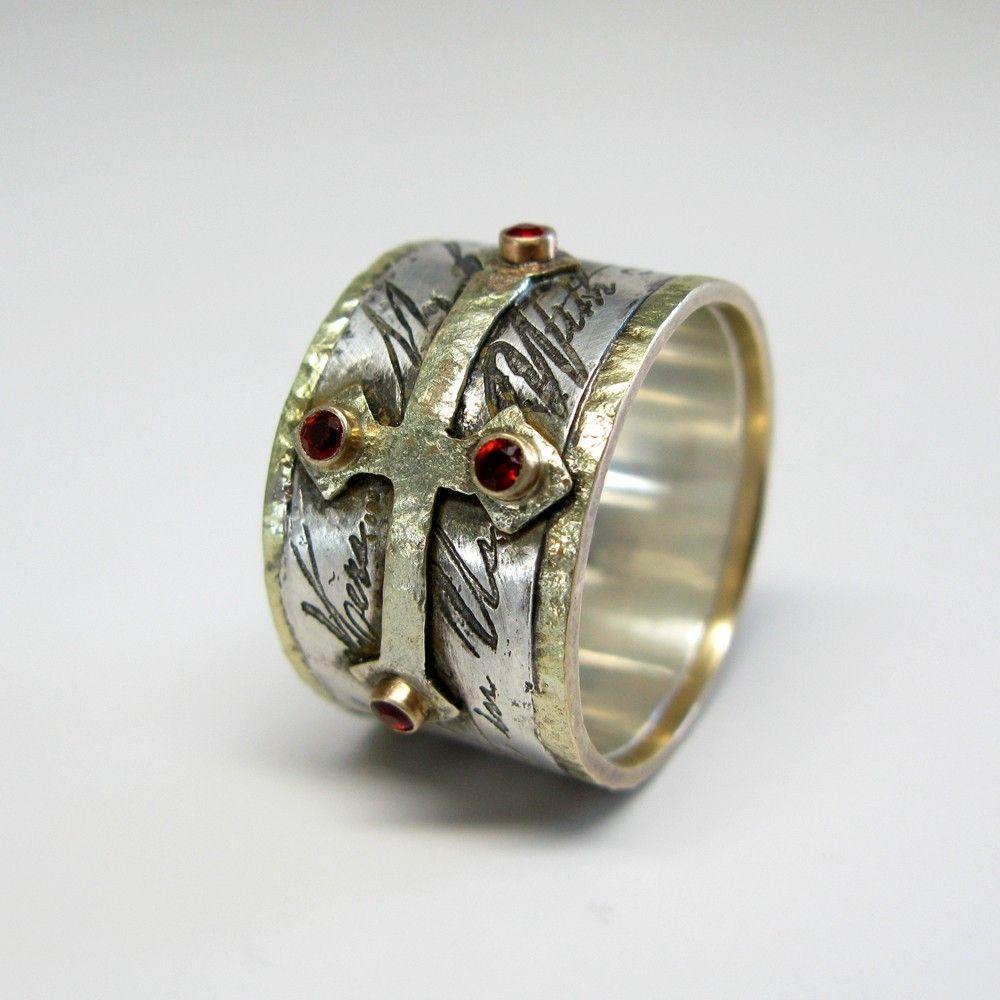 Handmade Mens Custom Wedding Ring by Janice Art Jewelry
