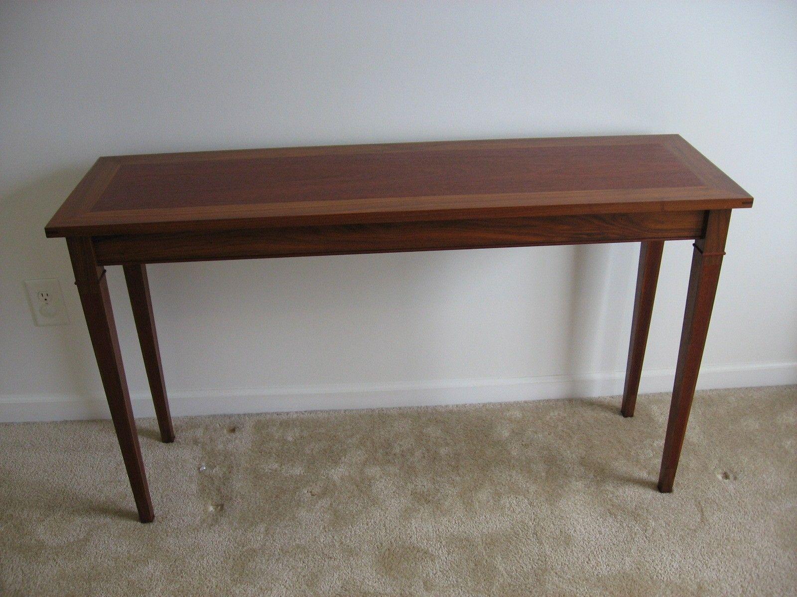 custom made sofa tables sleeper mattress sheets walnut mahogany table by batterman 39s