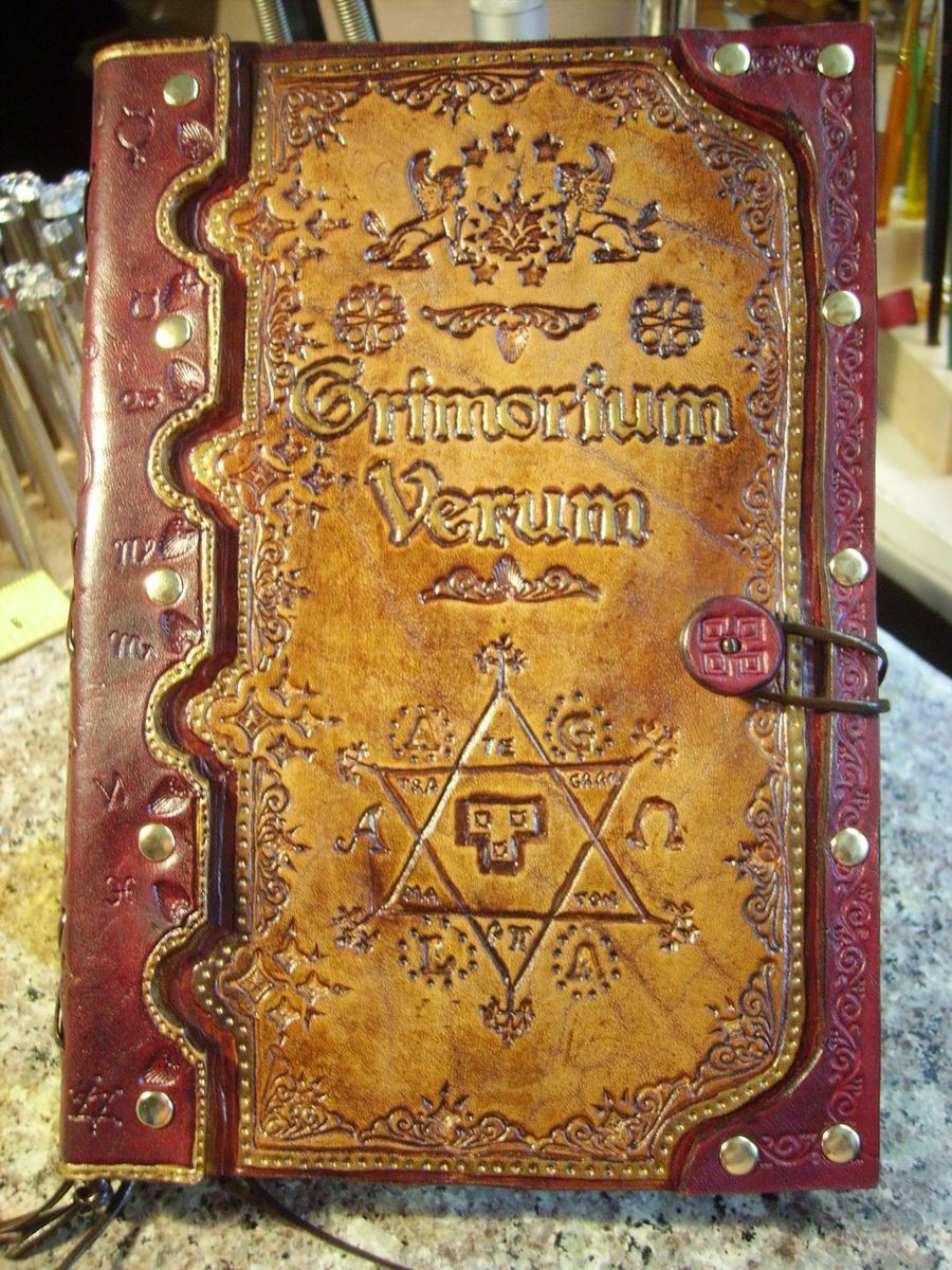 Custom Made Hand Made Leather Edition Of The Grimorium Verum By Genes Leather Stuff