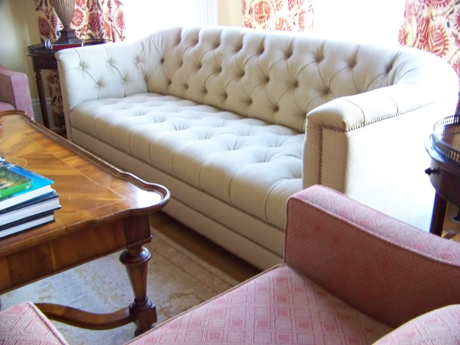 Hand Made Catherine Curved Back Tufted Sofa By Ashley