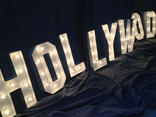 Hand Crafted Hollywood Sign Marquee Letter 18 Inch Tall