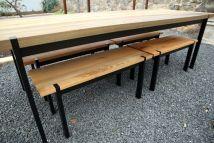 custom sinker cypress outdoor table