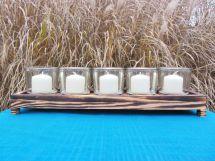 Custom Reclaimed Wood Candle Holder
