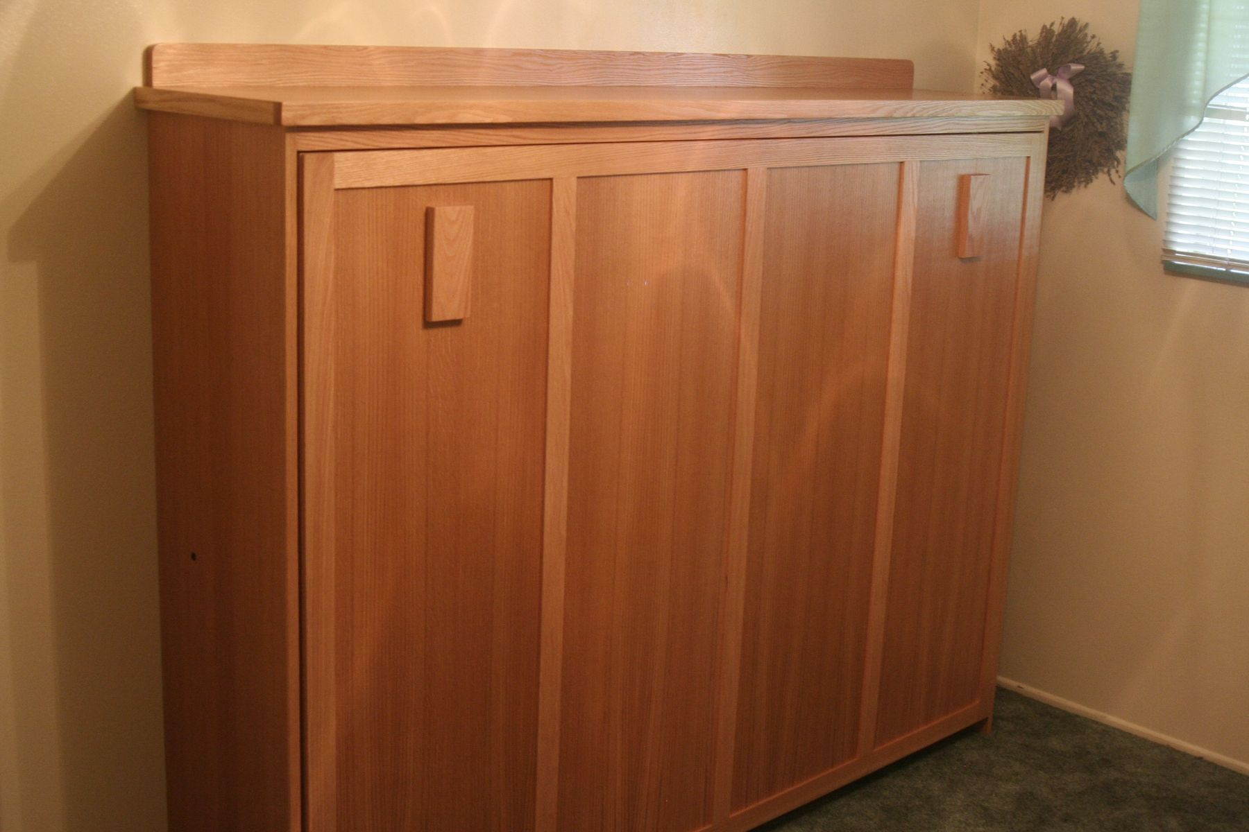 Custom Horizontal Wall Bed  Full Size by Dees Cabinetry