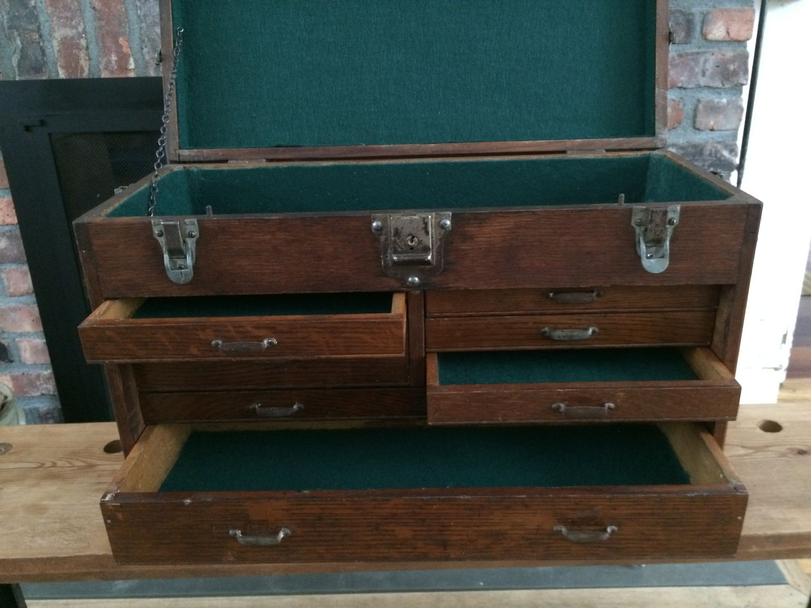 Hand Crafted Vintage Industrial Machinist Tool Box  Jewelry Box by MKarl LLC  CustomMadecom
