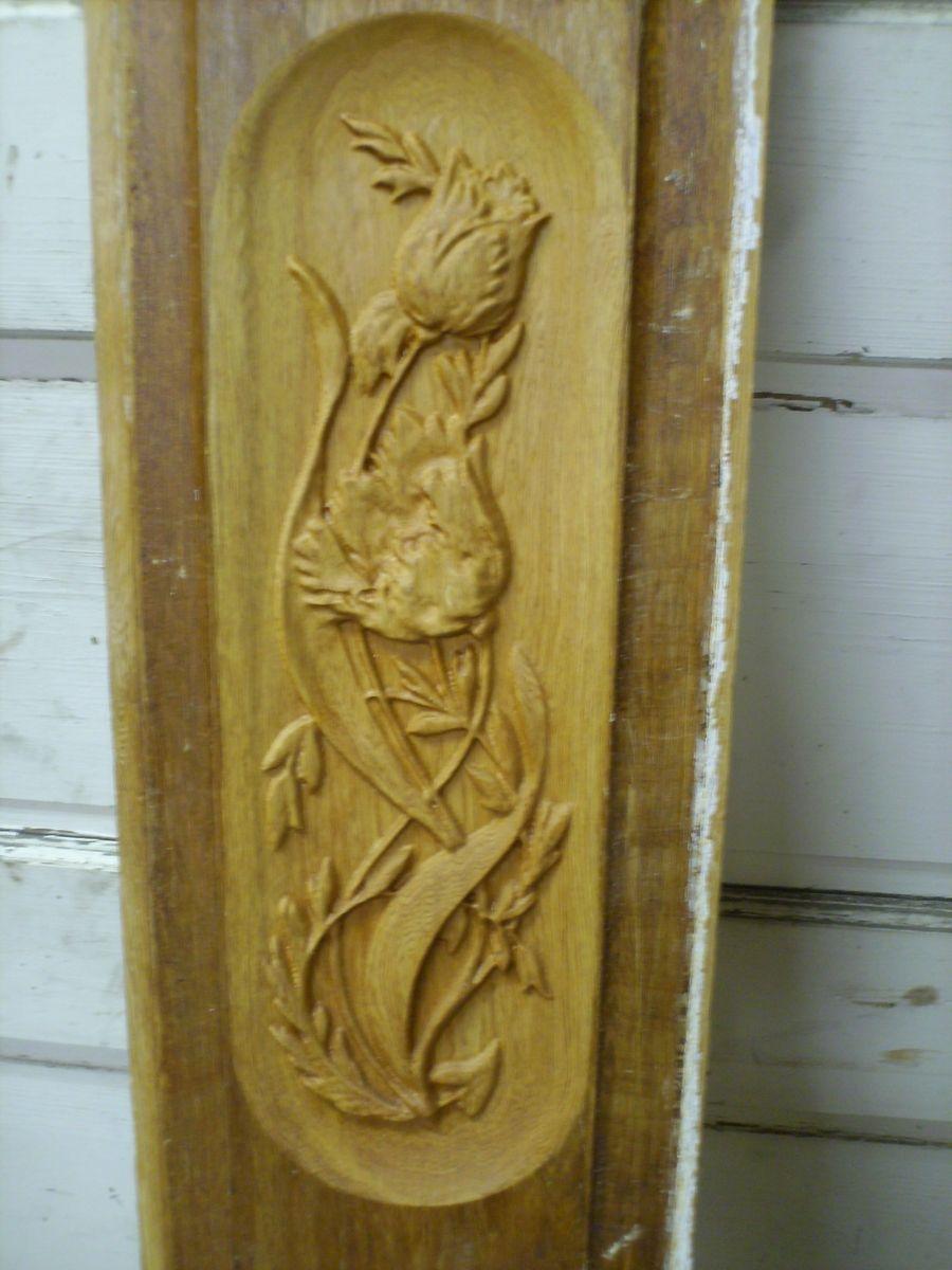 Custom Low Relief Carved Door Panel By Komala Studio