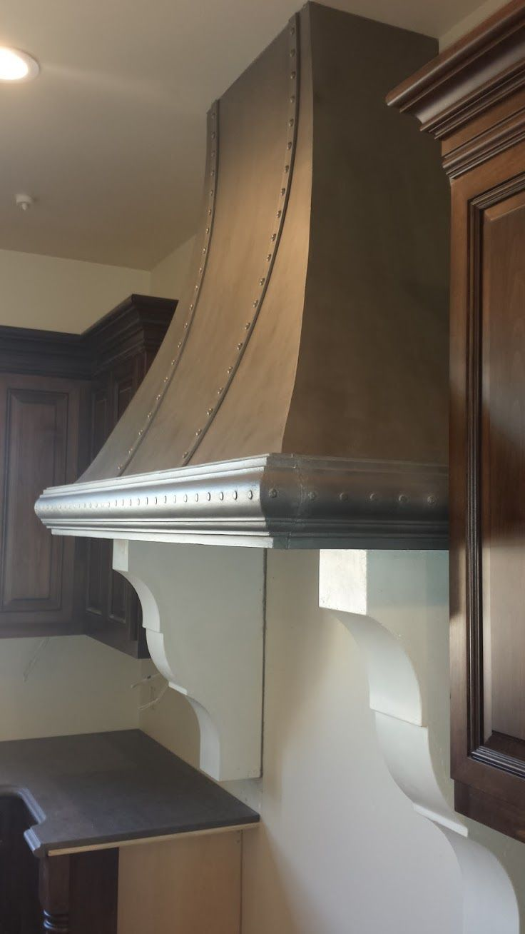 Buy a Hand Crafted Custom Antique Style Cast Stone Range Hood made to order from Pietra