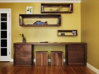 Hand Crafted Walnut Desk, Shelves And Stools by Anand ...
