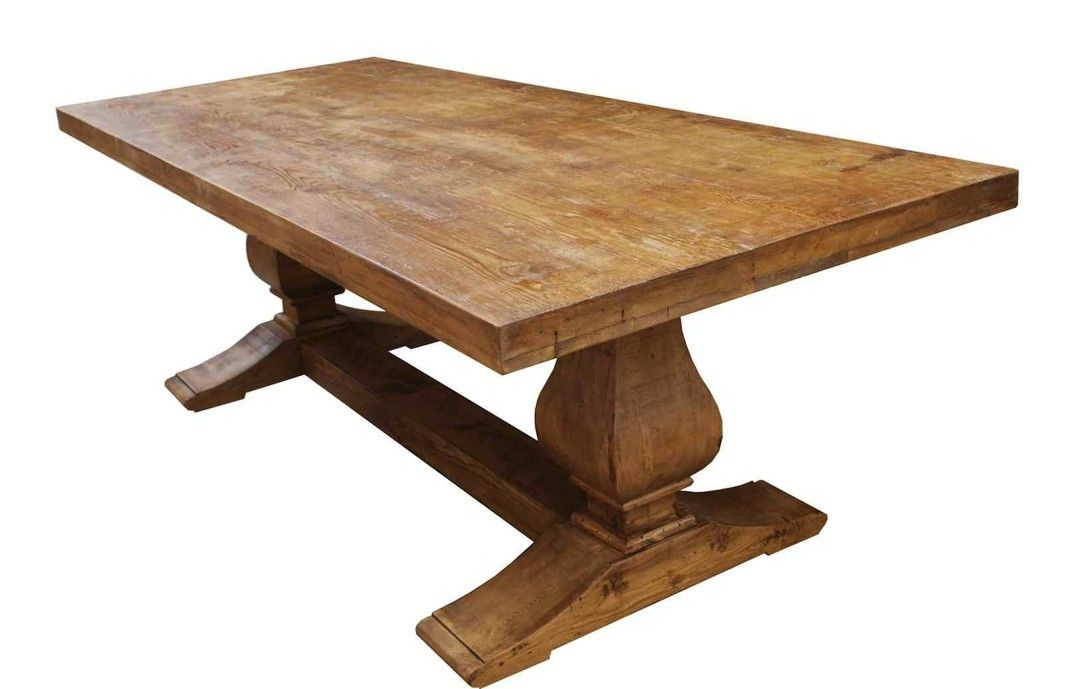 Hand Made Segovia Reclaimed Wood Trestle Dining Table By