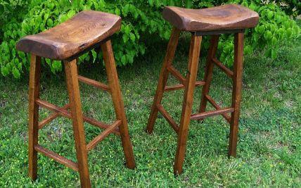 Fabulous Wood Slab Bar Stools Hot Trending Now Short Links Chair Design For Home Short Linksinfo
