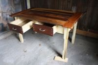 Custom Reclaimed Wood Kitchen Table by HoneyBadger ...