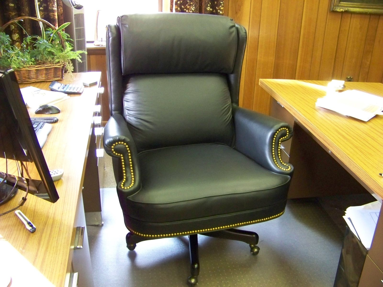 office chair under 3000 dining room covers target australia hand crafted custom built leather desk for an