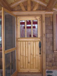 Custom Made Bolder Shores Log & Branch Entry Door