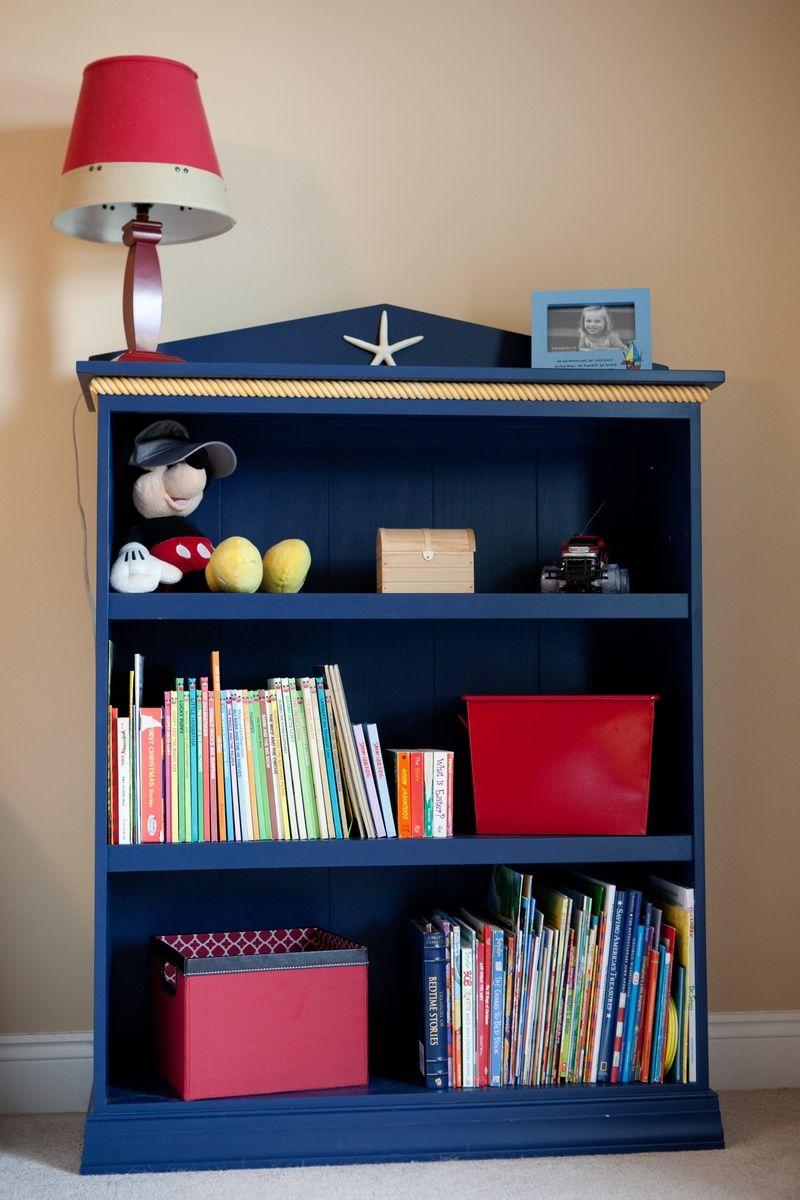 Custom Made Nautical Themed Bookshelf By Vintage Woodworks