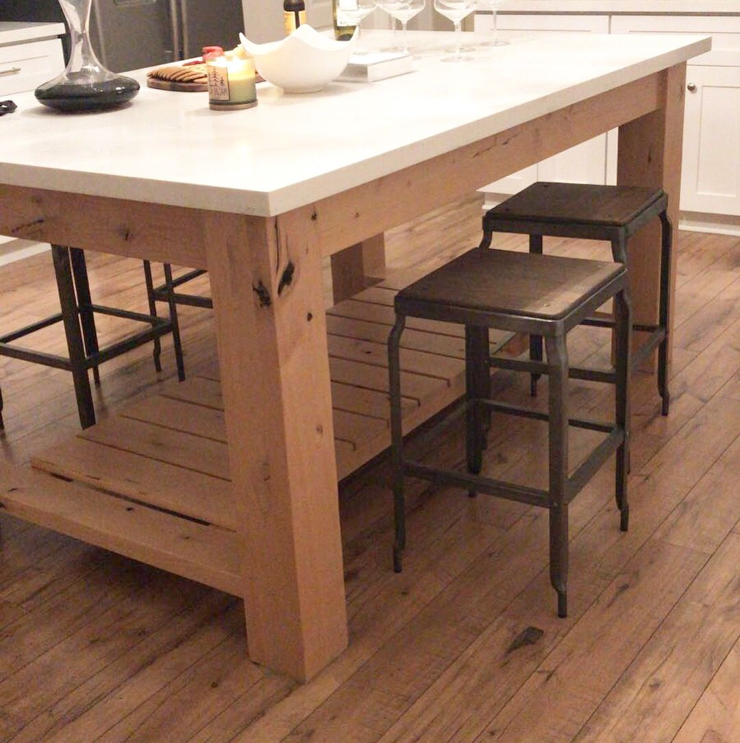 kitchen island base rustic black cabinets buy a hand made chunky to