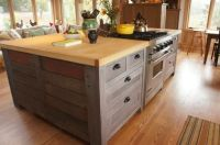 Hand Crafted Rustic Kitchen Island by Atlas Stringed ...