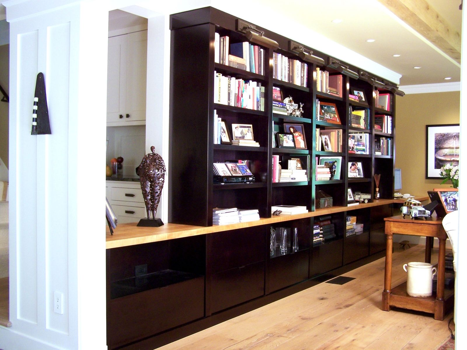 Custom Contemporary Wall Unit by G B Woodworking