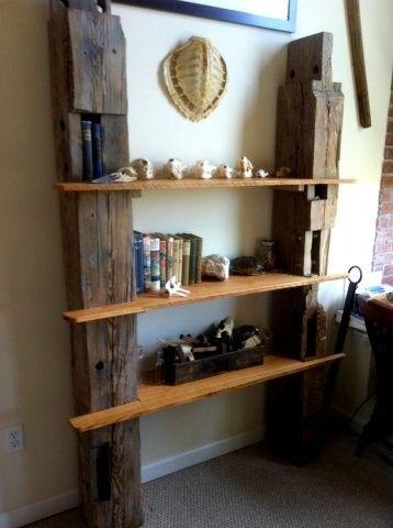 Custom Reclaimed Barn Wood Shelving by Drew Lambert