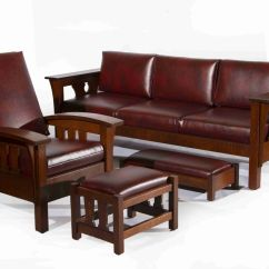 Antique Pullman Sofa Bed Cau D Ax Leather Arts And Crafts Style Craftsman Best Sofas