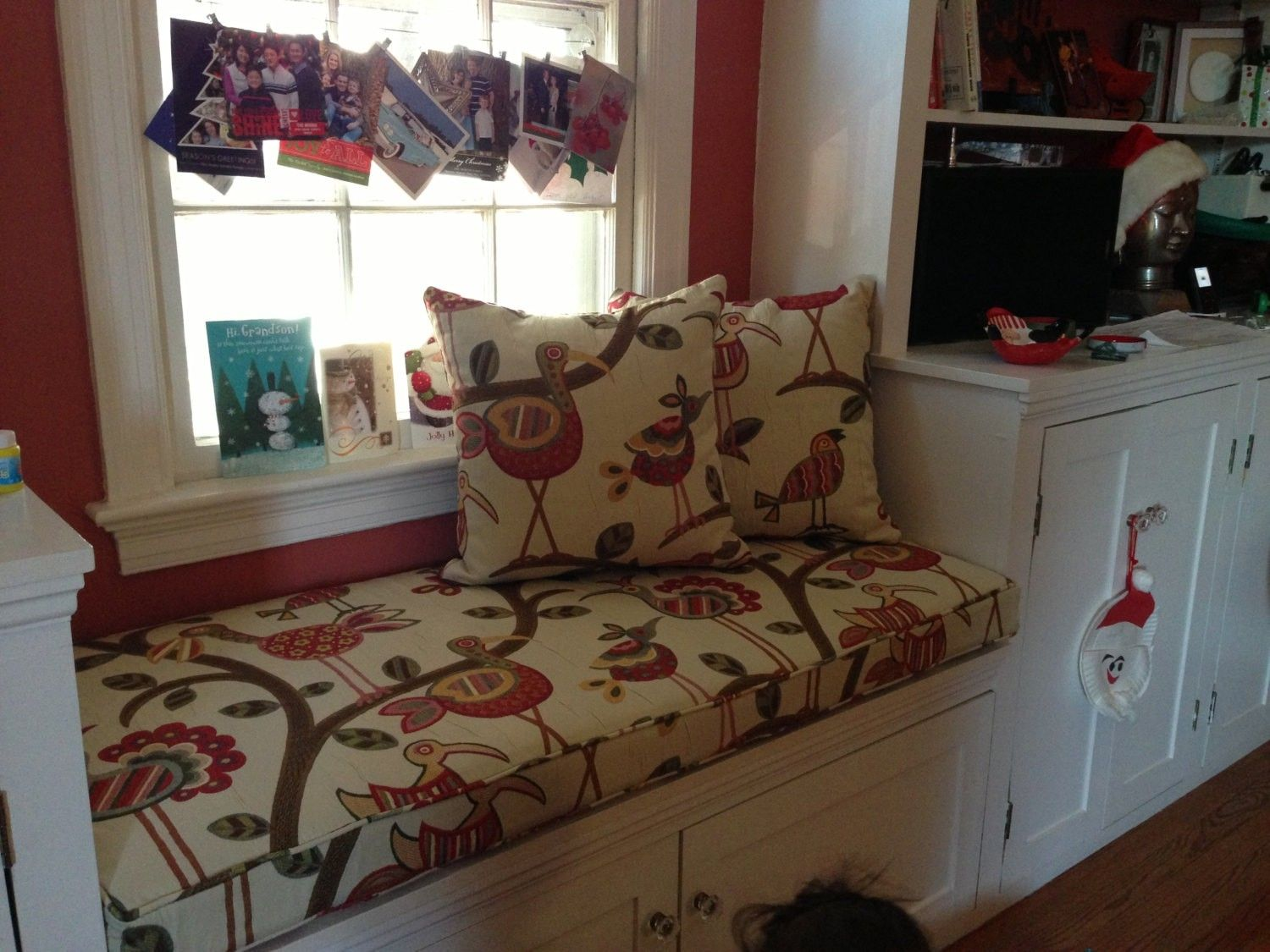 bedroom chair m&s plexiglass folding chairs hand made custom kitchen bench cushion by hearth and home