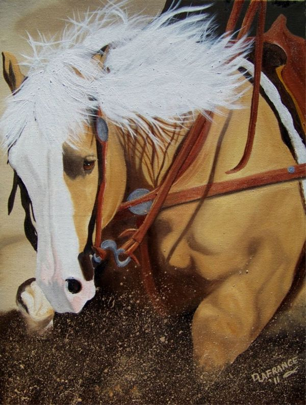 Horse Painting On Wood Art