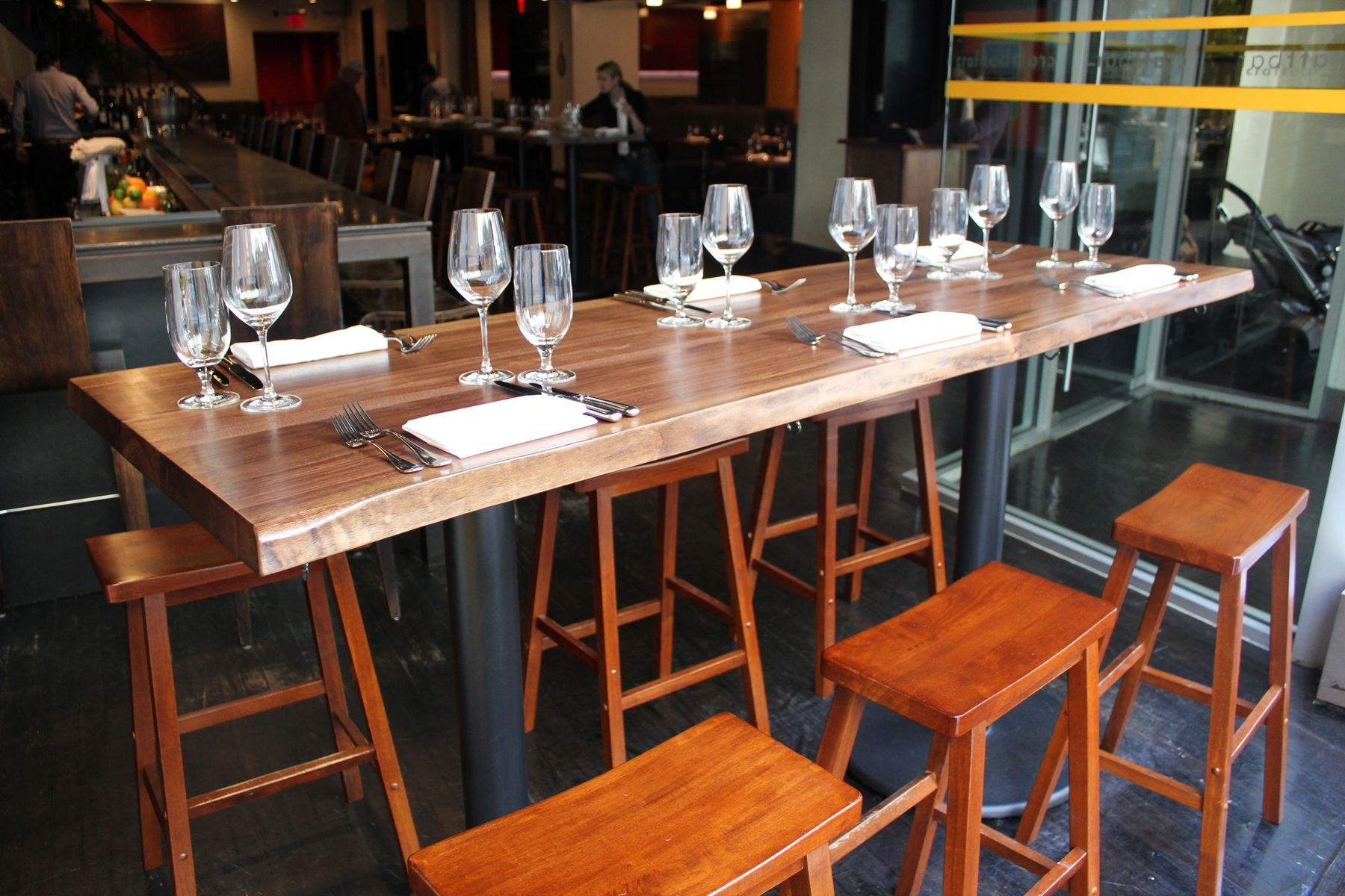 Handmade Live Edge Bar Tables by Peter Lawrence