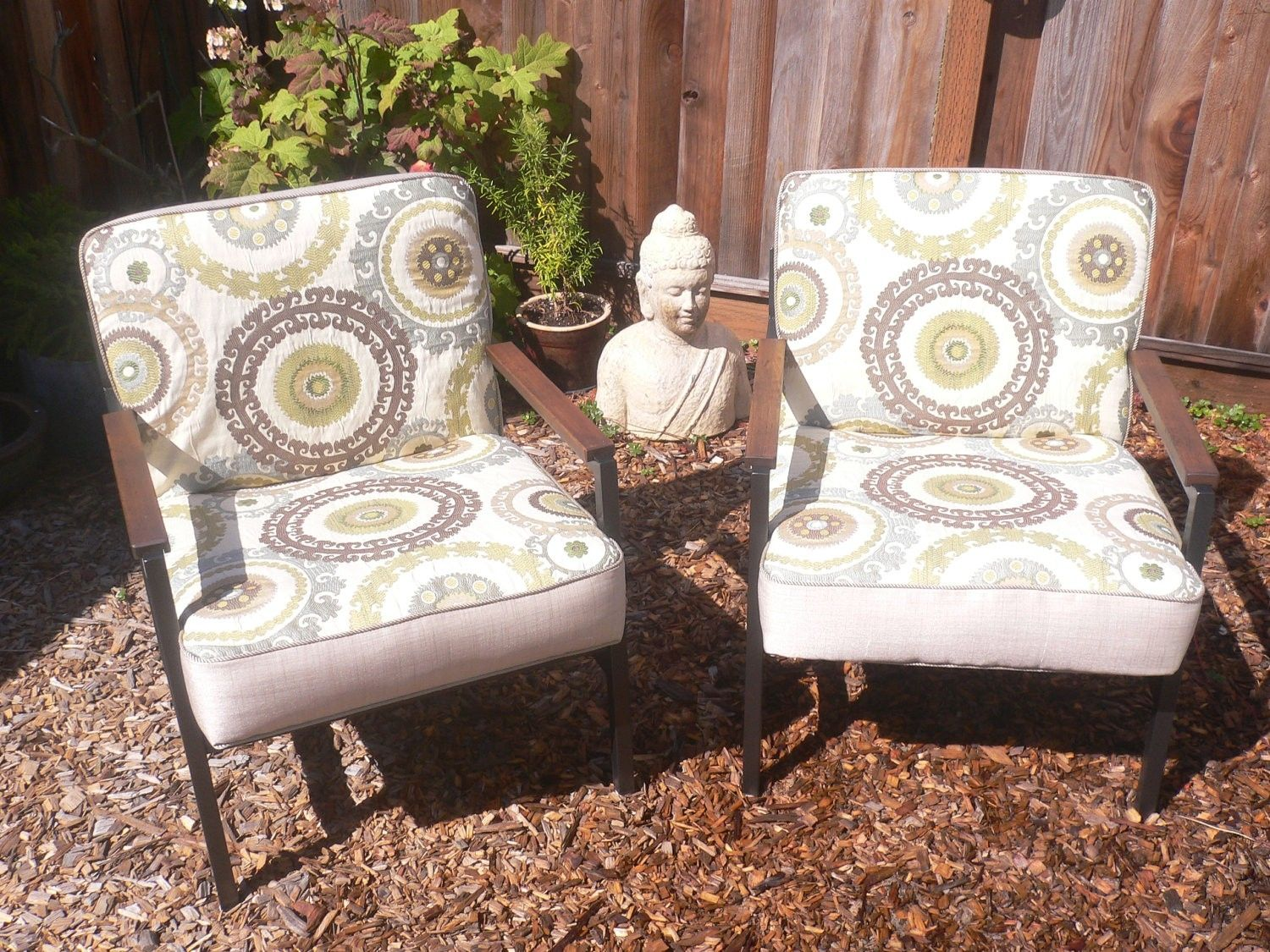 Custom Vintage Mid Century Modern Accent Chairs Fully