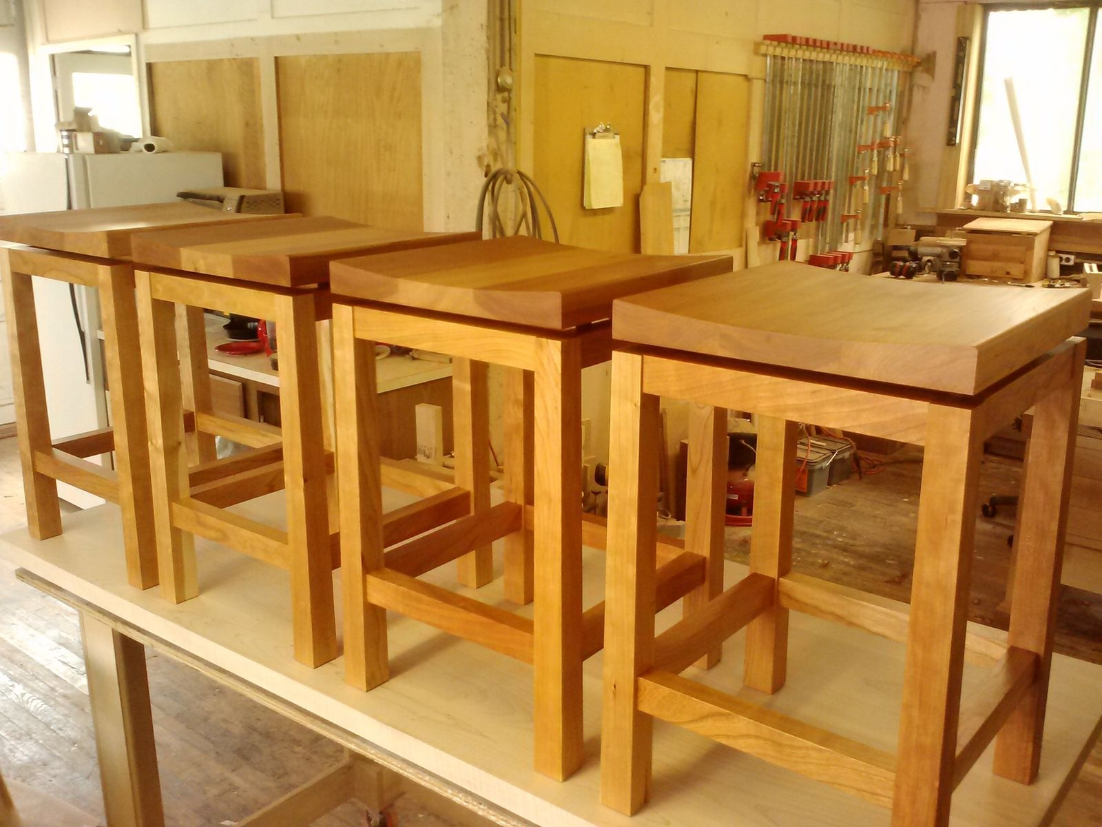 height of stools for kitchen island mosaic designs backsplash hand crafted cherry bar by