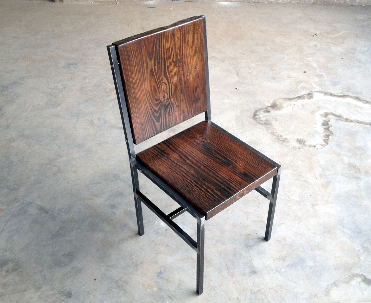 metal and wood chairs best bilana review hand crafted chair stool made of reclaimed steel