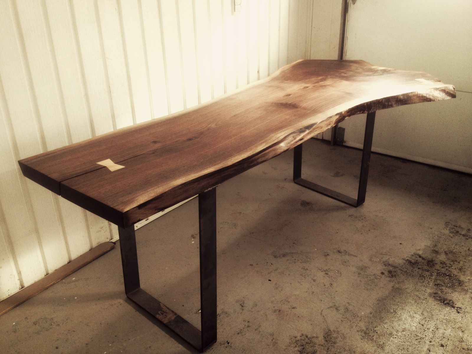 black walnut kitchen table 13 gallon trash can hand made live edge dining room by bois