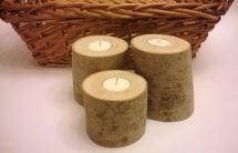 Handmade Birch Log Tea Light Candle Holders Smith
