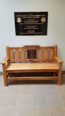 Hand Crafted Custom Memorial Park Bench - Indoor