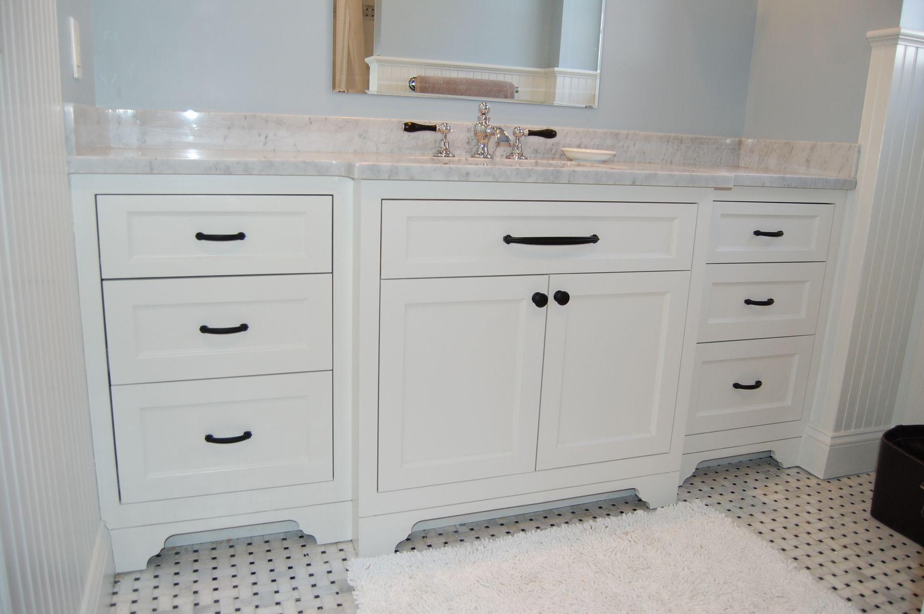 Hand Made Wide Single Bathroom Vanity by John Samuel